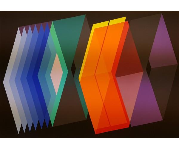 Pyramides éclosion géométrique Arthur Dorval - Vente d'Art