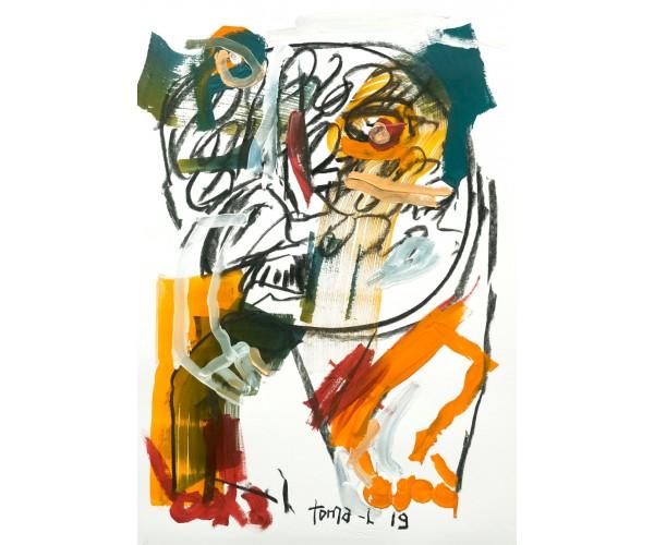 Little Graphite and color Toma-L - Vente d'Art