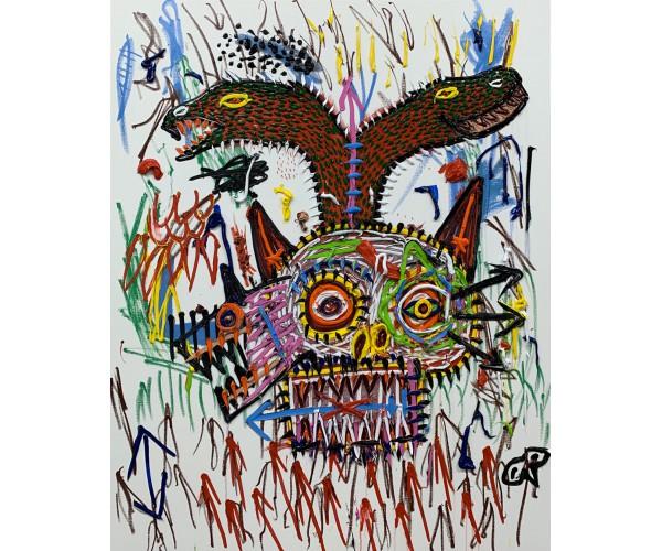 Crâne aux serpents David Nicolas Djordjevic - Vente d'Art