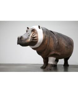 """Hippopotame Série """"accident de chasse"""""""