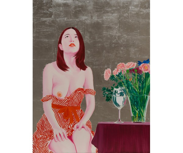 China girl with flowers Frédéric Léglise  - Vente d'Art