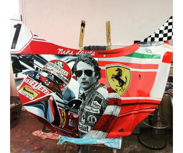 Capot Ferrari 2 Maxime Lhermet - Vente d'Art